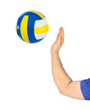 Hand and volleyball Stock Photos