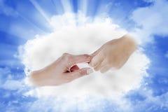 Hand vom Himmel Stockfotos