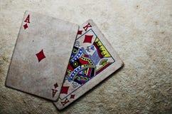 Hand von Ace u. von König Lizenzfreies Stockfoto
