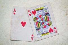Hand von Ace u. von König Stockfotos