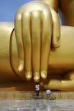 Hand von Buddha Stockfotos
