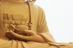 Hand von Buddha Stockfotografie