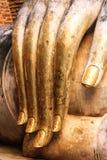 Hand von Buddha-Statue bei Wat Si Chum Lizenzfreies Stockbild