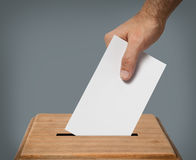 Hand voting. Royalty Free Stock Photography