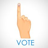 Hand with voting sign of India Royalty Free Stock Photography