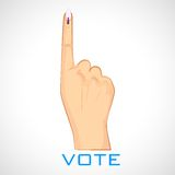 Hand with voting sign of India Stock Photos