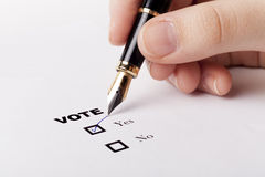 Hand Voting Yes Royalty Free Stock Image