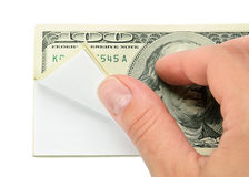 Hand and wad of paper Royalty Free Stock Image