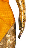 Hand and waist of Buddha stature. Stock Images