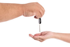 Hand wait the key isolated Royalty Free Stock Images