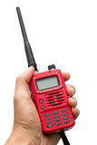 Hand and walkie talkie Royalty Free Stock Image
