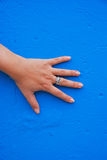 Hand on the Wall Stock Photo