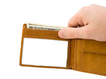 Hand and wallet Stock Image