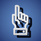 Hand with warning forefinger symbols Stock Image
