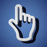 Hand with warning forefinger symbols. Illustration for the web Royalty Free Stock Image