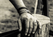 The hand of a warrior Royalty Free Stock Photo