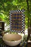 Hand wash basin. Ceramic outdoor hand wash basin Royalty Free Stock Photos