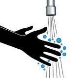 Hand wash clean water tap Royalty Free Stock Photo