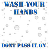 Hand Wash Poster Stock Photography
