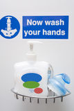 Hand Wash Station. S are now everywhere in hospitals, restaurants, food production facilities Royalty Free Stock Images