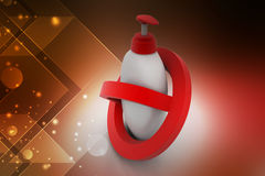 Hand wash with stop icon Stock Images