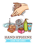 Hand Washing Illustration Royalty Free Stock Photos