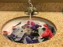 Hand washing laundry Royalty Free Stock Image