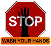 Hand Washing Sign Royalty Free Stock Photography
