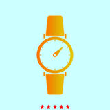 Hand watch it is icon . Hand watch  it is icon . Simple style Stock Photography