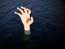 Hand In Water 3 Stock Photos