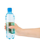 Hand with water bottle Stock Photo