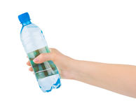 Hand with water bottle Stock Image