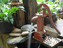 Hand water pump - retro style Stock Image