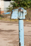 Hand water pump - retro style. Old water pump Stock Photos