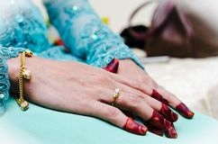 Hand wearing Henna Royalty Free Stock Photography