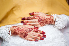 Hand wearing Henna Royalty Free Stock Images