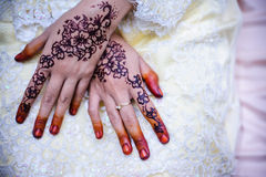 Hand wearing Henna Stock Photo