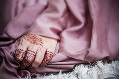Hand wearing Henna Stock Photography