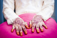 Hand wearing Henna Royalty Free Stock Photo