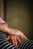 Hand wearing Henna Stock Photo