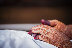 Hand wearing Henna Stock Image