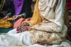 Hand wearing Henna Royalty Free Stock Photos
