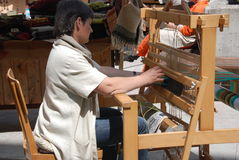 Hand weaving Royalty Free Stock Image