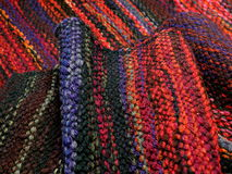 Hand weaving fabrics Stock Images