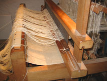 Hand Weaving Loom. Loom used for Hand Weaving in Devon England stock images