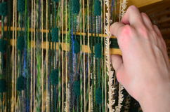 Hand Weaving Royalty Free Stock Photography