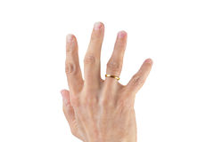 Hand with wedding ring Royalty Free Stock Image