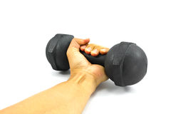 Hand and weight Stock Photography