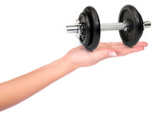 Hand with weights Royalty Free Stock Image