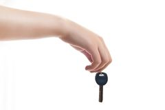 Hand, welche die Tasten anhält Lizenzfreie Stockbilder